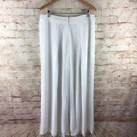 ASHRO Womens White Wide Leg Harem Dress Pants Size 14