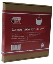 40cm Lampshade Making Kit for Pendants or Table Lamps. Needcraft.co.uk