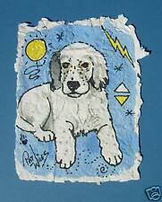 Rock Art  ENGLISH SETTER DOG Dogs Puppy Original