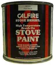 CALFIRE BRUSH ON STOVE PAINT HIGH TEMP WOODBURNER - BRUSH ON MATT FLAT BLACK