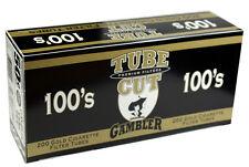 5(Five) Gambler Tube Cut Light 100mm Cigarette Tubes 200ct box RYO/MYO