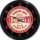 Drewrys Old Cabin Ale Beer Tray Wall Clock South Bend IN Stout Standard Lager