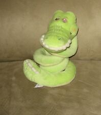 "Baby Ganz 14"" Curly Whirly Alligator Rattle Baby Stuffed Plush"