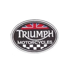 PATCH ECUSSON  THERMOCOLLANT  TRIUMPH  OVALE  ROCK BIKER