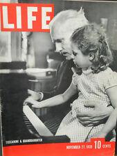 WWII Life Magazine Nov. 27 1939 Toscanini, German Bomb Raid, War Films