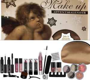Adventskalender Make UP Kosmetik Schminke Nagellack Tasche Damen Mädchen Engel