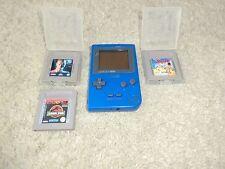 Nintendo Game Boy Pocket Blau, inkl. 3 Spielen (The Jetsons, Terminator 2)