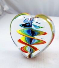 M Design Art Glass Sommerso Huge Heart Paperweight PW-675 [Kitchen]
