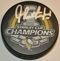 Jim Rutherford 2016 Pittsburgh Penguins Autographed Stanley Cup Hockey Puck COA