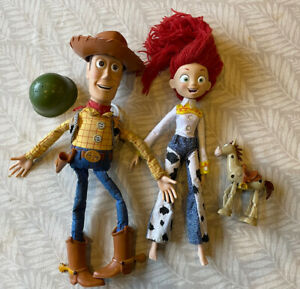 Disney Toy Story Woody Jessie And Bullseye And Hats