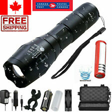 20000LM Tactical T6 LED Flashlight Zoomable 5 Modes Torch Light 18650 lantern