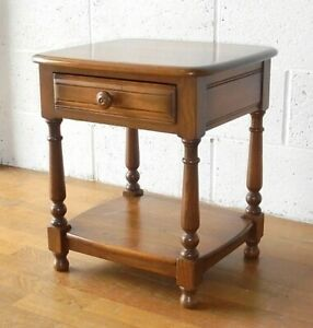 VINTAGE OLD COLONIAL ELM ERCOL SIDE TABLE BEDSIDE WITH DRAWER ... postage £11.99