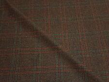100% Pure Wool Tweed Multi Check Brown Jacket Blazer Craft Upholstery Fabric