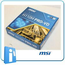 Placa base mATX H110 MSI H110M PRO-VD Socket 1151 con Accesorios