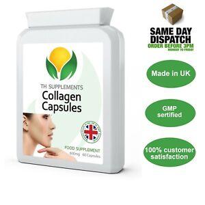 Marine Collagen Type 1 Plus Vitamin C 600mg 60 Capsules UK Manufactured