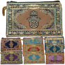 Ladies Coin Purse Moroccan Wallet Fatima Hand Gold Patterned Design Zipper Pouch