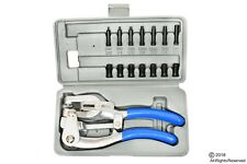 Power Hole Punch for Aviation Sheet Metal Plastic Heavy Duty Hand Held Set New