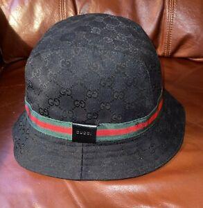GUCCI Monogram GG Bucket Hat Size Medium