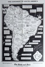 1938 SOUTH AMERICA ORIGINAL Pictorial Persuasive MAP - Impending war WW2