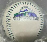 NIP 1998 Colorado Rockies MLB All Star game logo ball - purple & green