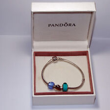 Pandora 16cm Bracelet + 3 Charms Brand New Boxed Nice Gift Various Styles