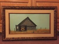 ORIGINAL MID CENTURY COUNTRY/FARM PAINTING SIGNED by Famed artist Guy Rowbury