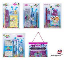 MERMAID SCHOOL STATIONARY SET Pens Pencils Cases Kids Birthday Girls Gift Box UK