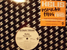 """KELIS + NEPTUNES + NAS - POPULAR THUG (12"""")  2003!!!  RARE!!!"""