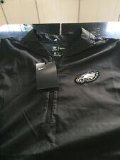 Mens Nike on Field Philadelphia Eagles 1/4 Zip Jacket Top M Medium Black