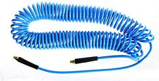 "1pc 50 Ft (15m) Recoil Hose 1/4"" NPT Blue Spiral Compressed MettleAir CHP14-50B"