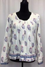 Joe Fresh Womens Top Shirt Blouse Floral Long Sleeve Size S/P