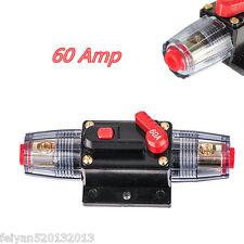 60 AMP 12V DC Circuit Breaker Replace Fuse Holder 60A 12V Car Audio Marine Boat