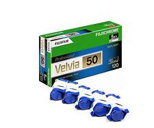5 Rolls Fuji Fujichrome Velvia 50 120  RVP50 Color Slide Film Fresh 2022