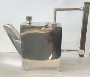 Christopher Dresser Style Silver Plated Teapot With Faults !