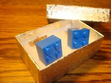 BLUE LEGO Block Design Cufflinks 1 Pair (Two) Hamilton Gold Plated $3.00  New