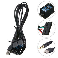 AUX+USB Port Car Headphone Jack Cable Audio Dash 3.5mm Adapter Panel Input Wired