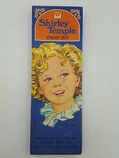 Vintage Shirley Temple Paper Dolls Set 1976 Whitman Uncut in its Original Box