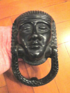 OLD EGYPTIAN STYLE HEAD DOOR KNOCKER