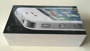 New FACTORY SEALED Apple iPhone 4 White 8GB Model A1332 Unlocked Rare Collectors
