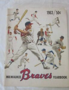 Milwaukee Braves 1963 Yearbook  - good condition some wear at edges