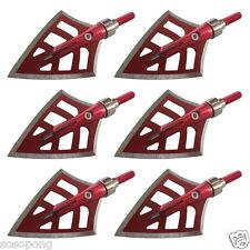 6Pcs 125Gr 4-Blade Arrowheads Red Devils Broadheads Hunting Archery Outdoor