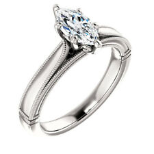 1.8CT White Topaz 925 Silver Women Men Jewelry Wedding Engagement Ring Size 6-10