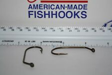Eagle Claw Lot of 100 5/0 45* Flat Eye Flipping Jig Round Bend Hks New (L2898BZ)
