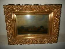 Very old oil painting, +- 1860. Two roosters are fighting, great frame, antique!