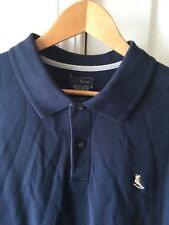 RARE MEN'S L.L. BEAN 100 YEARS Large Blue POLO SHIRT WITH STITCHED BOOT LOGO