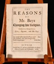 1688 The Reasons of Mr Bays Changing his Religion T Brown Scarce 1st