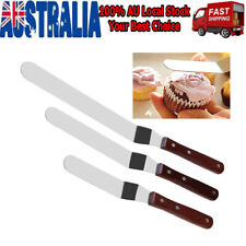 3x Angled Cake Icing Spatula Knives &stainless Steel Decorating &baking Supplies