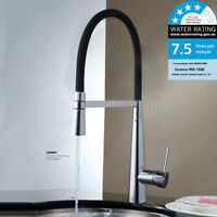 360° Pull Down Swivel Kitchen Sink Basin Laundry Spout Mixer Tap WELS Faucet Chr