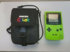 GAMEBOY COLOR KIWI LIME GREEN With Vintage Gameboy Color Case Tested /Working