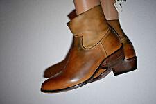 STRATEGIA Bottes femme Chaussures bottines marron plates tout cuir 36 occasion